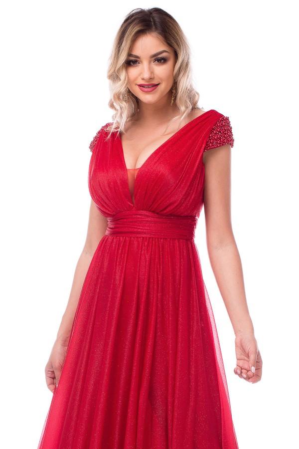 Rochie de ocazie R 567 rosu