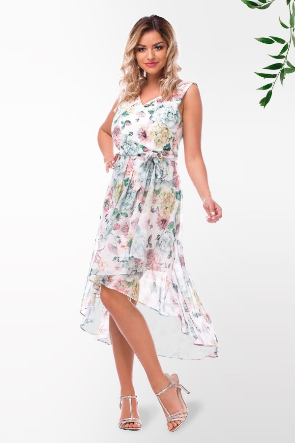 Rochie casual R 952901 alb
