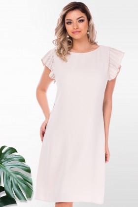 Rochie eleganta R 54223 crem