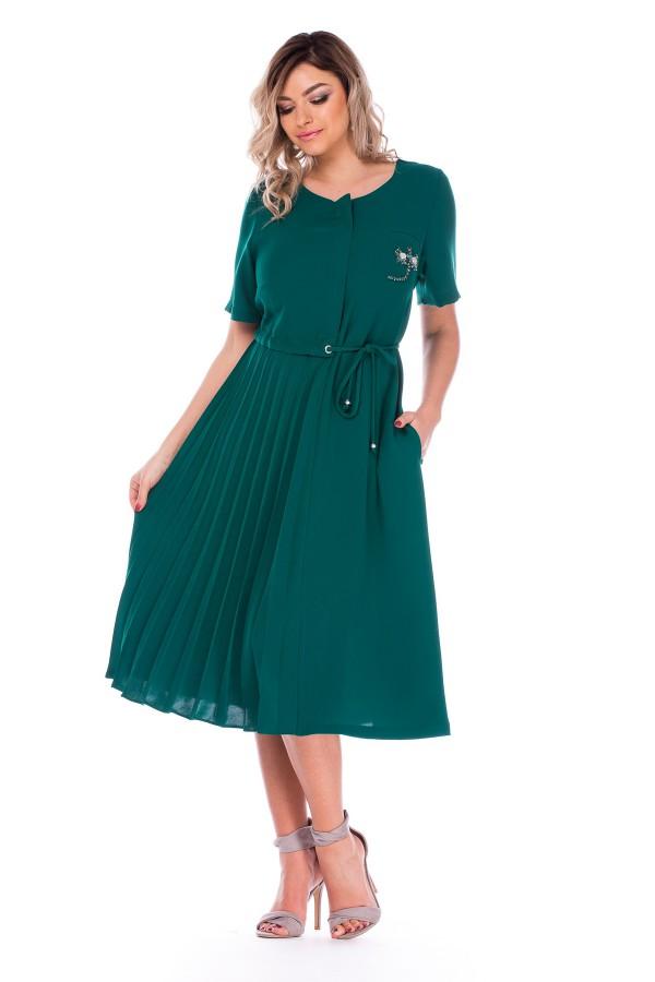Rochie casual R 5822B verde