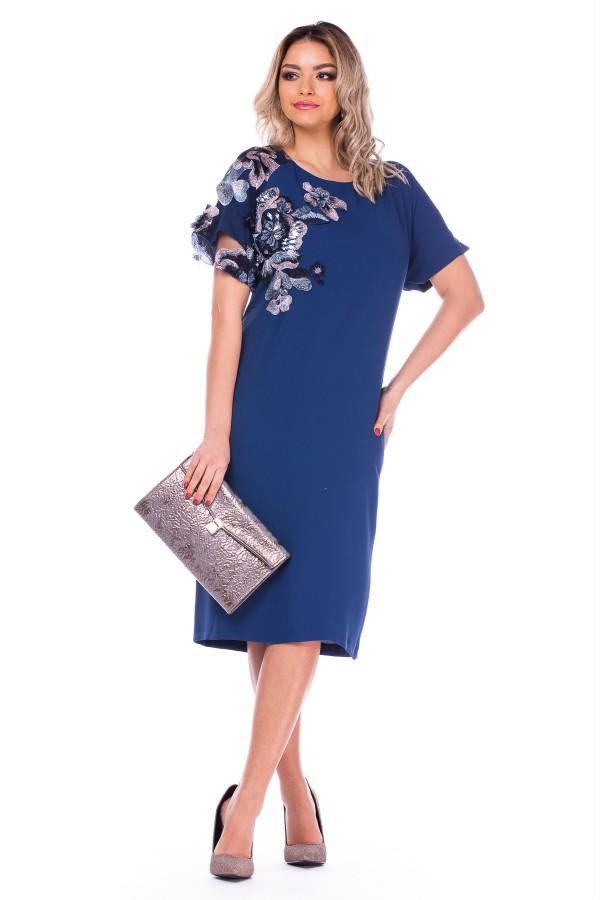 Rochie casual R 5818B albastru