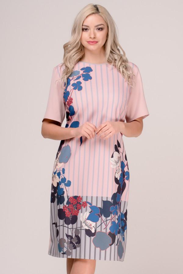 Rochie de zi R 269 roz