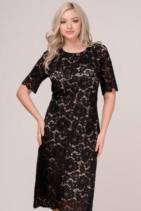 Rochie din dantela R 245 negru