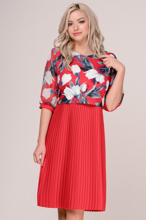Rochie eleganta R 245 ros