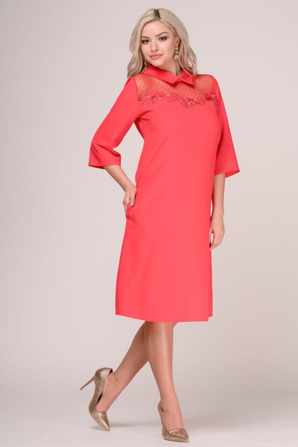 Rochie eleganta R 279 rosu