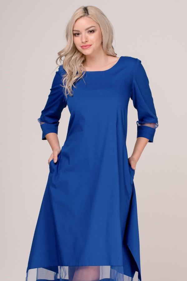 Rochie de zi R 279 albastru