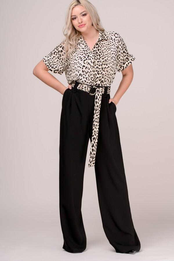 Pantalon lung larg P 169 negru