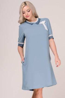 Rochie casual R 245 albastru