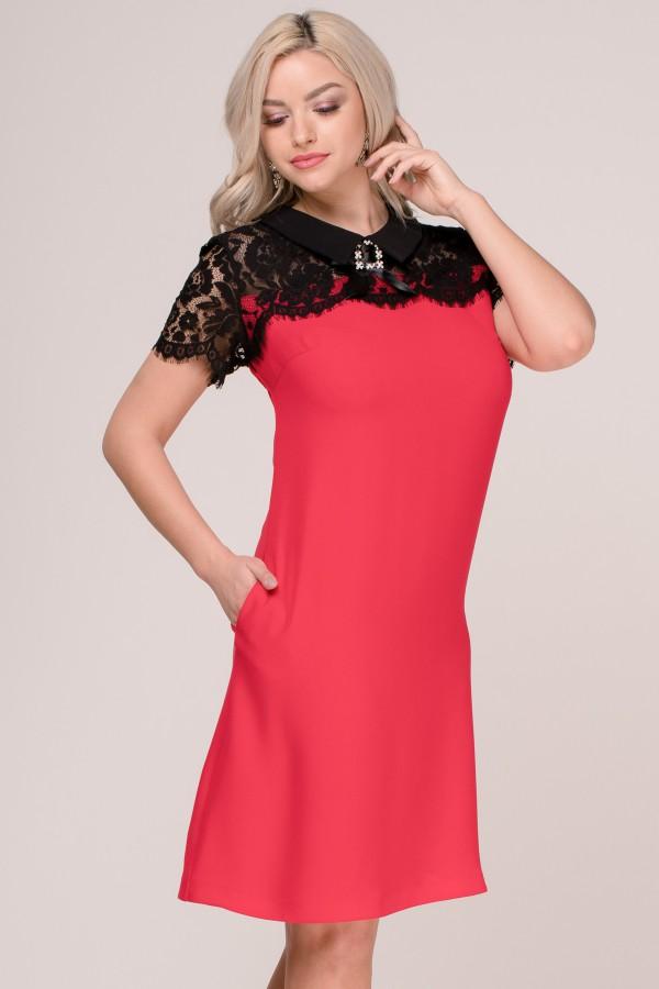 Rochie eleganta R 305 rosu