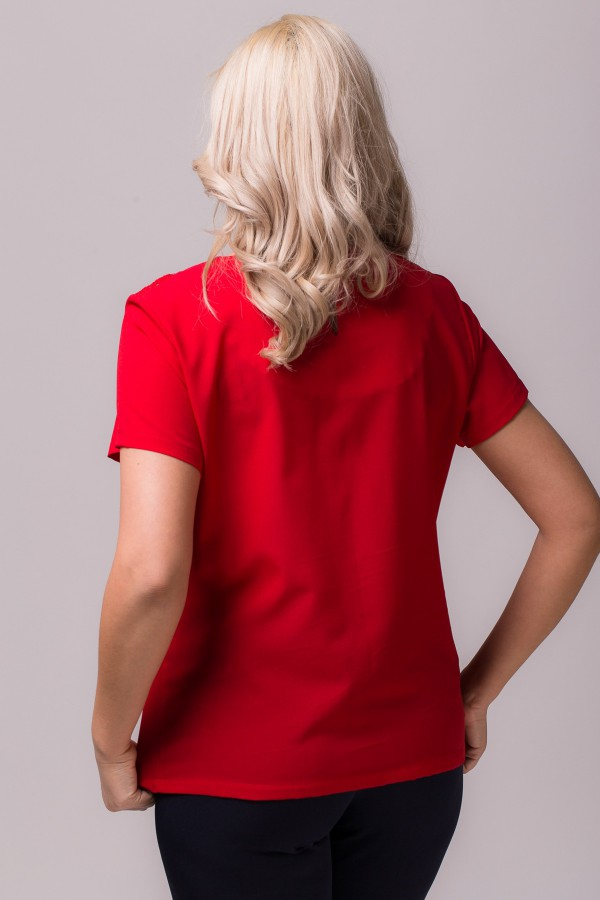 Bluza casual B 85 rosu