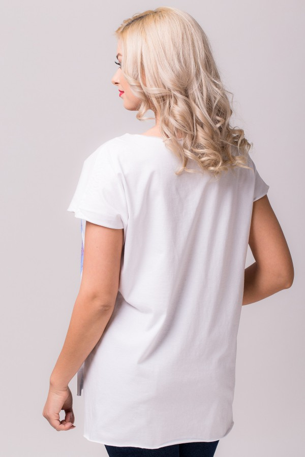 Bluza B 65 alb floral