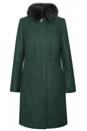 Palton din stofa Victoria verde
