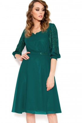 Rochie elegant Corina verde